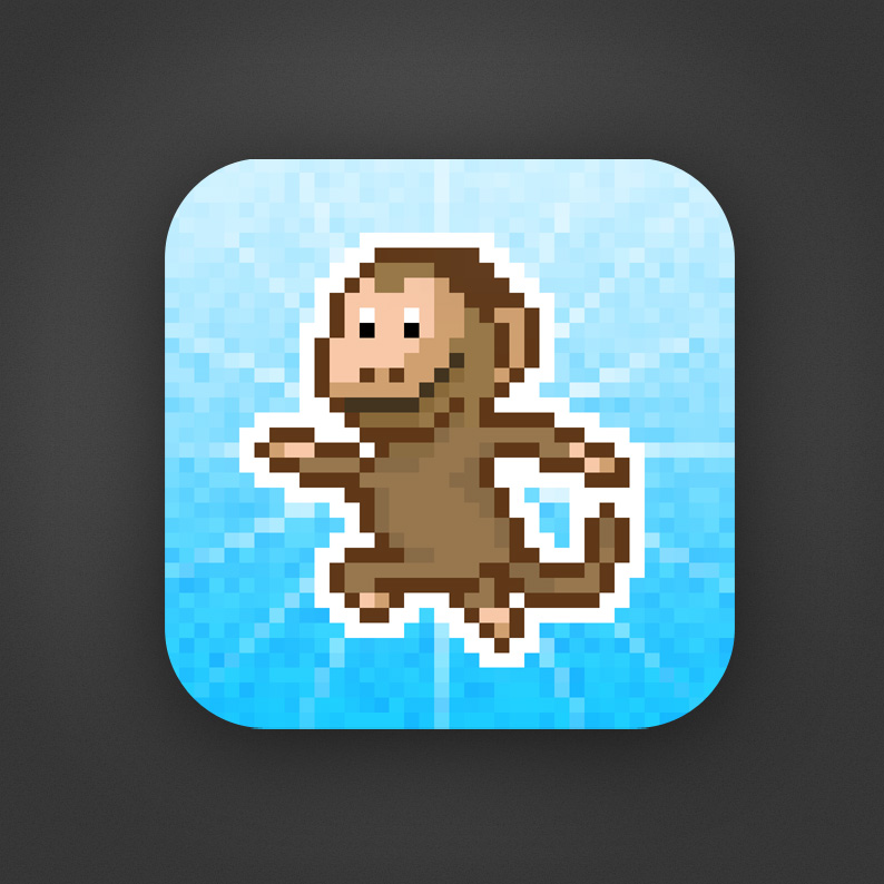 Monkey Must Run - Icon Draft 1